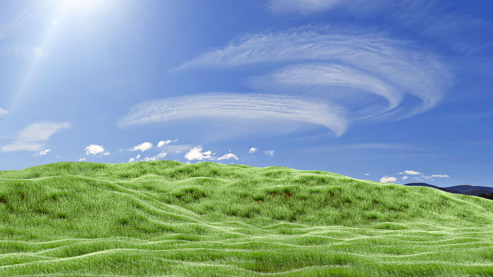A Recreation of the Classic Windows XP Wallpaper in Blender